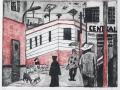 Der langsame, melancholische Rhythmus Mexikos, 1988, Kaltnadel, 30x39 cm