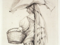 Marktfrau von Oaxaca, 1989, Kaltnadel, 32x25 cm