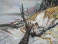 Am Darßer Weststrand II, 2009, Öl auf Leinwand, 60x80 cm
