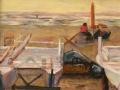 Am Strand von Camaiore, 2004, Acryl auf Leinwand, 35x45 cm