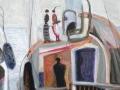 Auf der Luxusyacht, 2013, Öl auf Leinwand, 60x50 cm