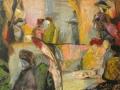 Café Scarlatti, 2008, Öl auf Leinwand, 70x90 cm