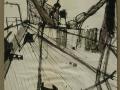 Auf dem Vorschiff, 2003, Pinsel, Feder, Tusche, 42x60 cm