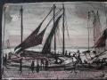 Boddenhafen, 2003, Feder und Tusche, 15x21 cm