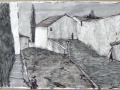 Boulbon, Südfrankreich, 1997, Tusche und Ölkreide, 42x60 cm, 42x60 cm