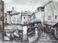 Regen in Arles, 1995, Tusche und Aquarell, 17x23 cm